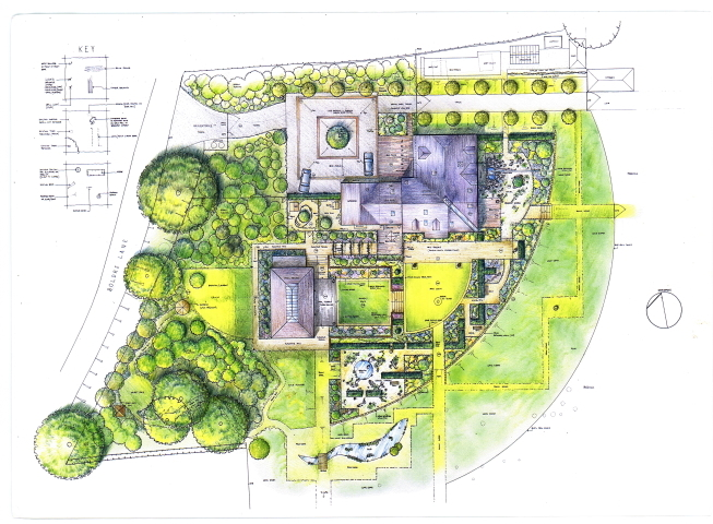 New house garden design – Hampshire